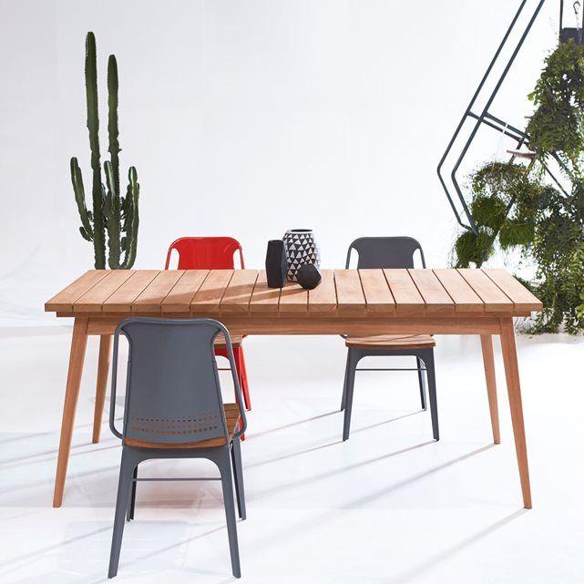 1000 id es sur le th me table en teck sur pinterest teck mobilier de campagne et design - Mobilier jardin teck massif pau ...