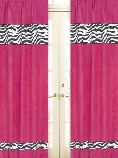 Marvelous Hot Pink U0026 Black Zebra Print Window Curtains Drapes   Set Of 2 Panels {Need