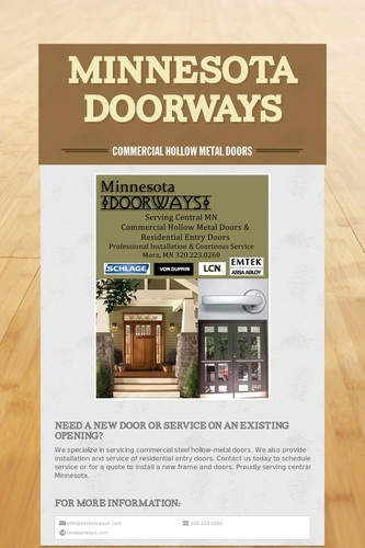 We specialize in servicing commercial steel hollow-metal doors. We also provide installation and service of residential entry doors....