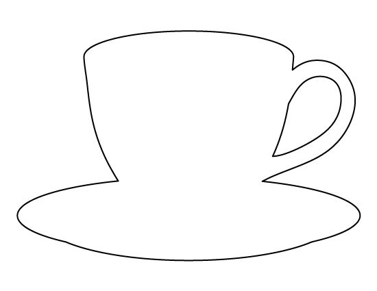 Coffee cup pattern. Us...