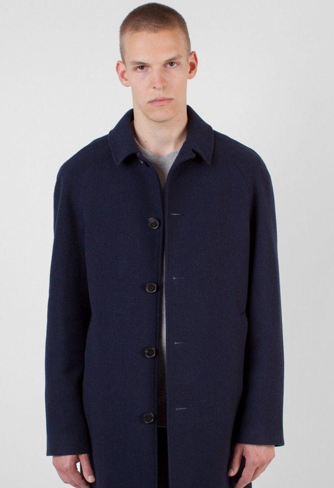 Acne Studios Marten Coat Navy – Voo Store