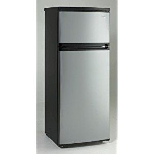 Amazon.com: Avanti RA7316PST 2-Door Apartment Size Refrigerator, Black with Platinum Finish: Appliances