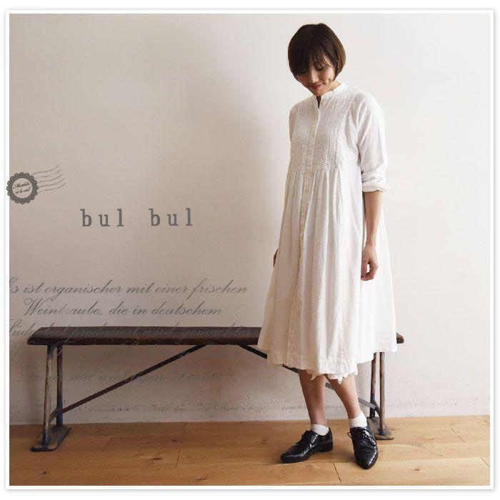 【bul bul バルバル】(サンバレー sun valley) ヴィンテージ オックス スタンド カラー 切替 ワンピース (bk-80258)
