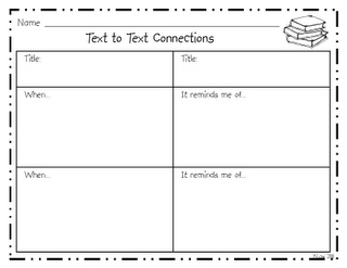 Text to text connections graphic organizer