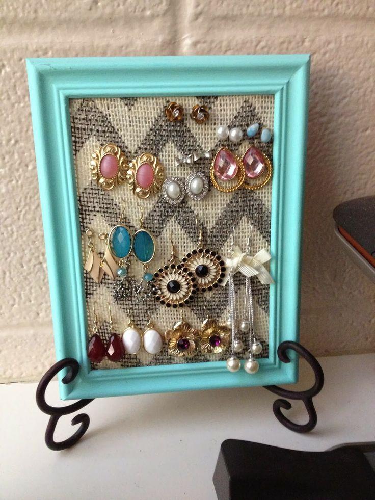 Best 25+ Diy Earring Holder ideas on Pinterest | Diy ...