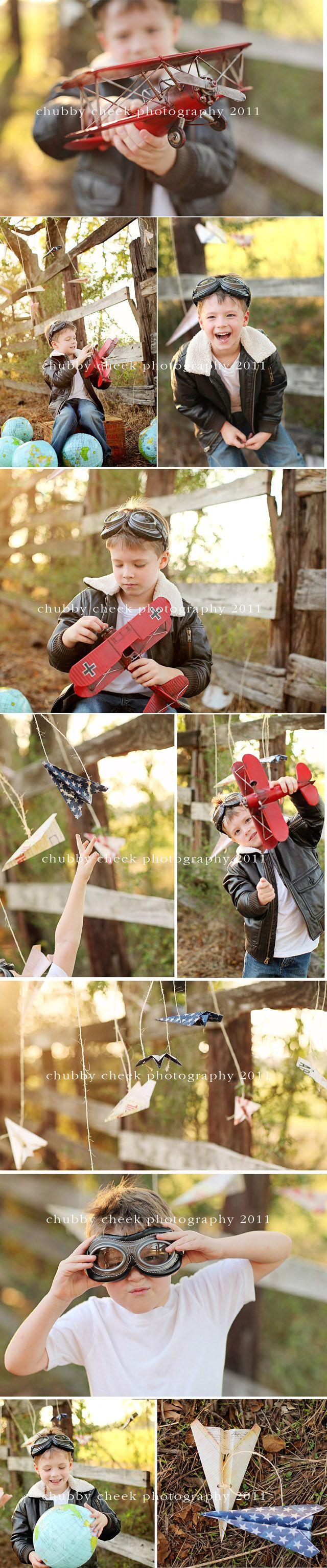 little pilot pics. Adorable idea!
