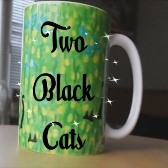 'Two Black Cats' coffee mug from the Society6 Mollycat Collection!!! .  .  #sale #mug #cup #shareyoursociety6 #society6 #coffeemugs #cats #blackcat #blackcats #drink #green #designer #thankyou #s6 #instamug #instagreen #instacats #catstuff #catmugs #instalike #designoftheday #mollycatfinland #catlovers #catscatscats #twoblackcats  #homedecor #giftideas #catlovers #catpeople #猫 #katzen