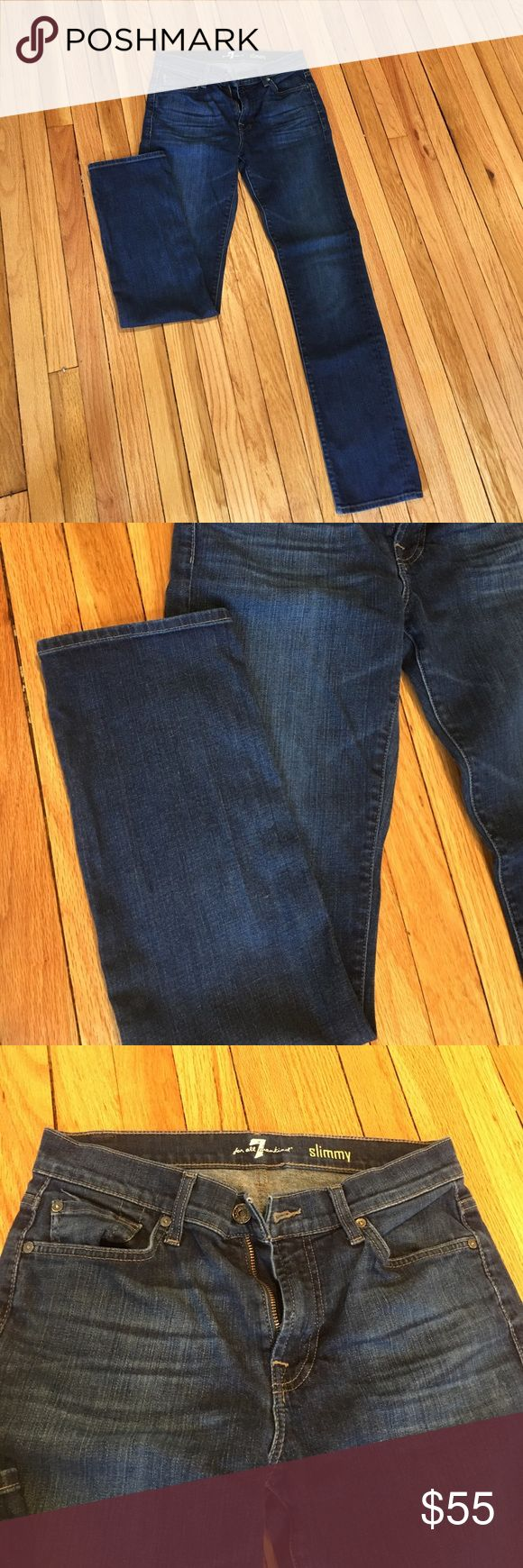 7 For All Mankind men's slim jeans Perfect NWOT condition. My husband wore these just a handful of times. Size 30 waist and 32inches inseam. Feel free to ask questions. 7 For All Mankind Jeans Straight