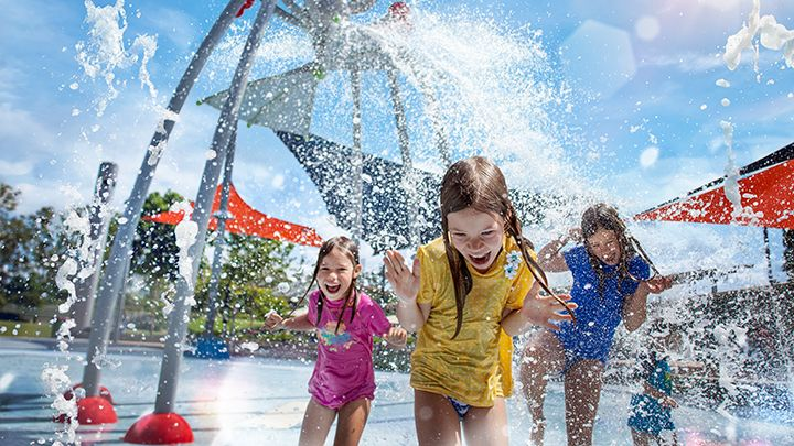 There's only one thing to do when it get's hot - find water.  Luckily, Robelle Domain in Springfield has plenty of that to offer with an amazing children's water park! If that's not quite up your alley, there's also play equipment which combines play and electronic gaming, walking and cycle paths, picnic areas and markets every Saturday morning.