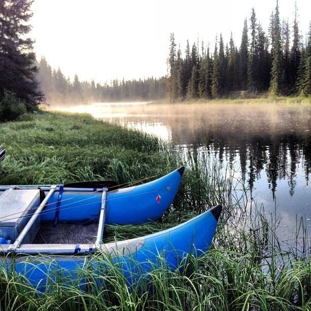 Fly fishing in the Cariboo Chilcotin Coast -- looks so peaceful! Photo by @trouthustler #explorebc