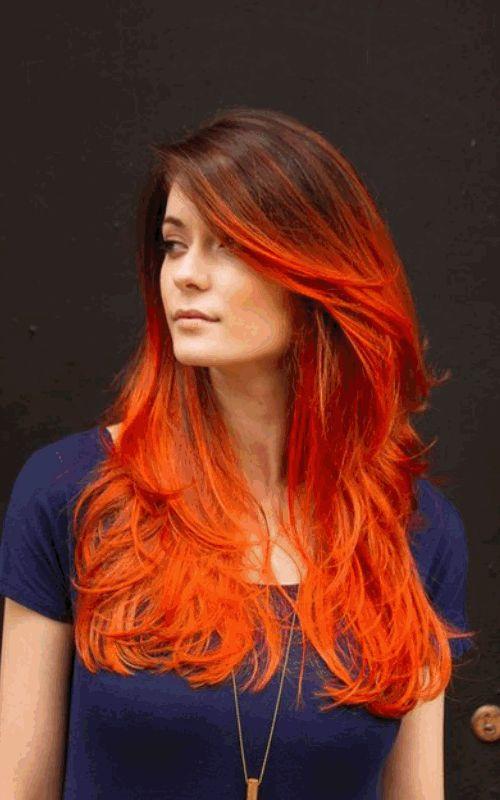 рыжие волосы гиф, прическа, стижка, девушка