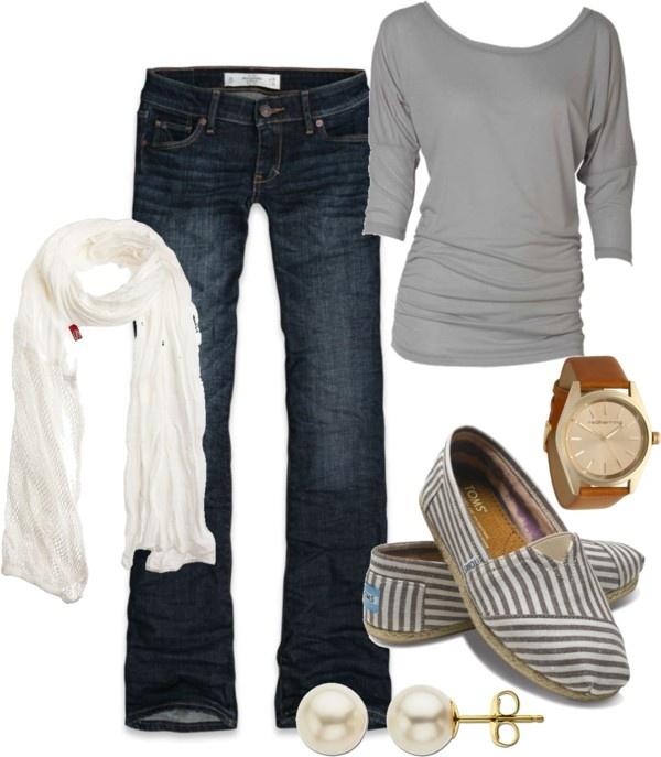 """casual friday"" by beckyking on Polyvore: Toms, Casual Friday, Fashion, Clothes Style, Clothing Style, Dream Closet, Casual Outfits, Scarf, Fall Winter"