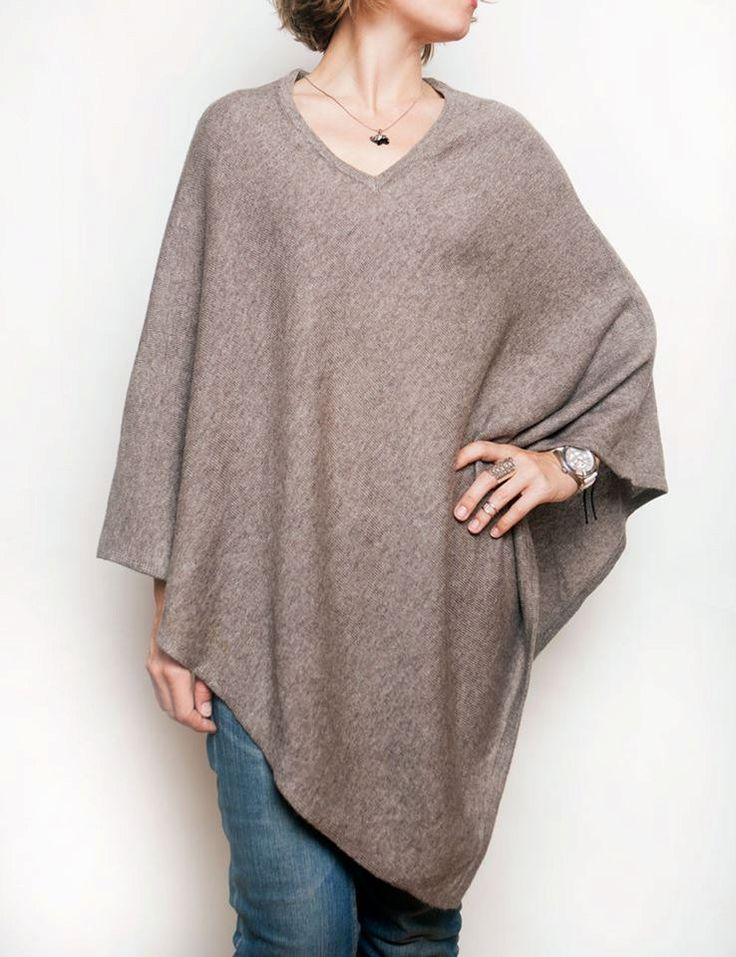Brown light  cashmere poncho, cashmere ponchos, cashmere cape, knitted poncho, woman wrap, warm scarf, boho style poncho, gift for women by CurryMoon on Etsy