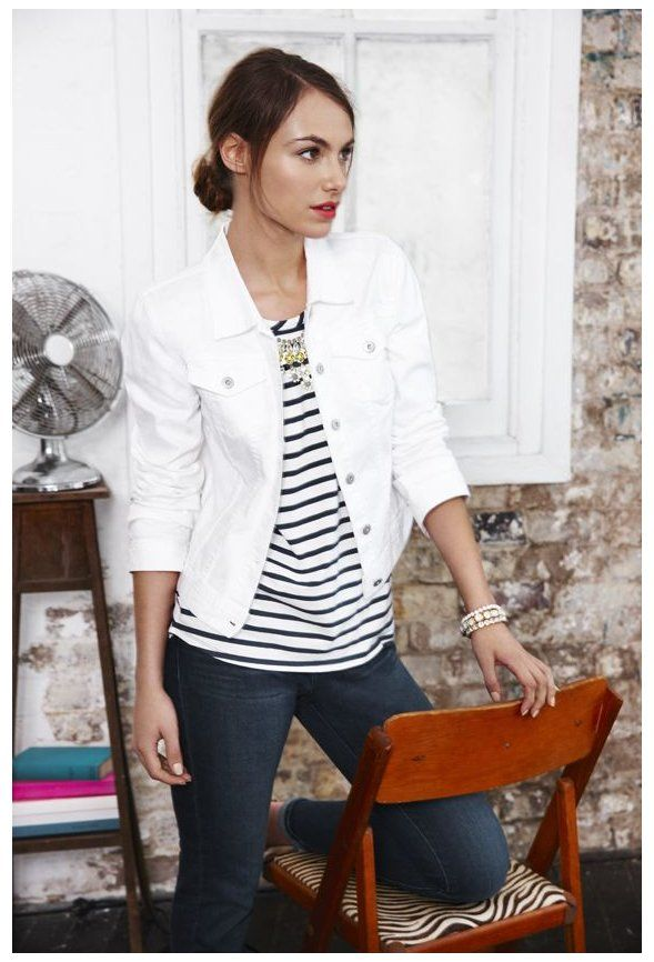 Shop Online For Womens Fashion At Sussan Com Au White Jacket Outfit Summer Sussan T In 2020 White Jacket Outfit White Denim Jacket Outfit White Jean Jacket Outfits
