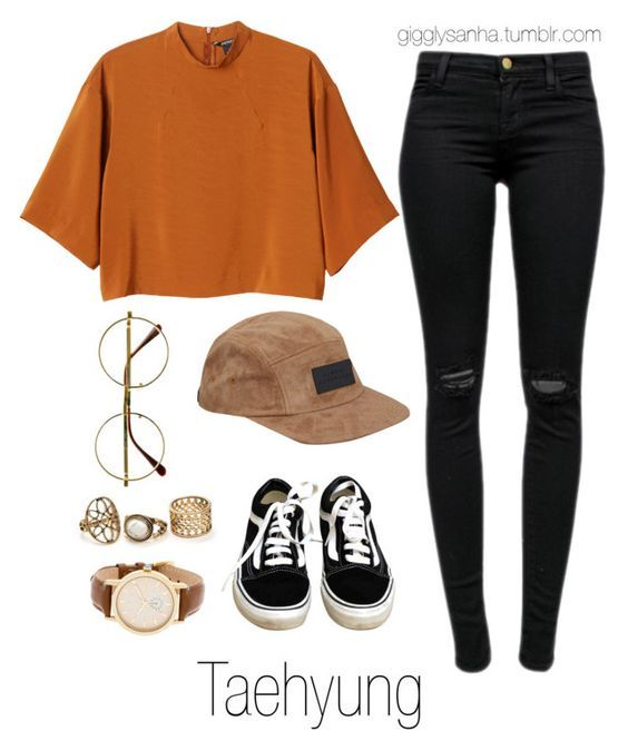 """Inspired Outfit for KCON // Taehyung"" by suga-infires ❤ liked on Polyvore featuring J Brand, Monki, Vans, Retrò, Sunday Somewhere and Steve Madden"