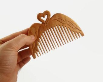 Flamingo hair comb Girlfriend gift Mother gift Wife gift Womens gift ideas for her Wood hair stick slide pin eco hair accessories Ukrainian