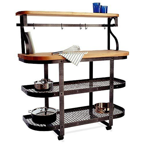 Enclume Chefs Gourmet Bakers Rack Island with Hutch