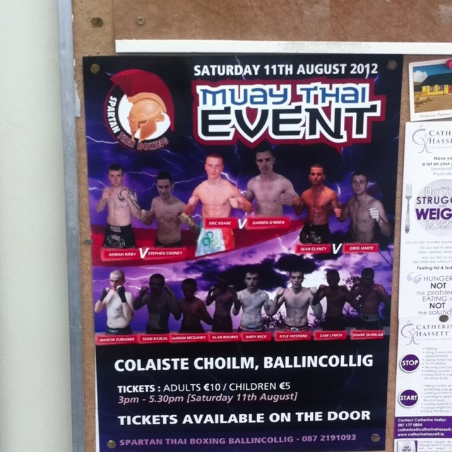 Muay Thai event in colaiste Colm... 11 August