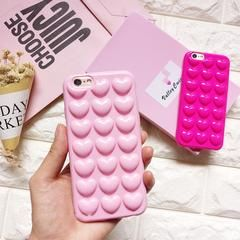 3D Bubble Candy Hearts iPhone Case