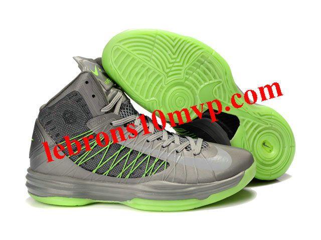 Buy New Grey Volt Green Womens Nike Lunar Hyperdunk 2013 Fashion Shoes Shop