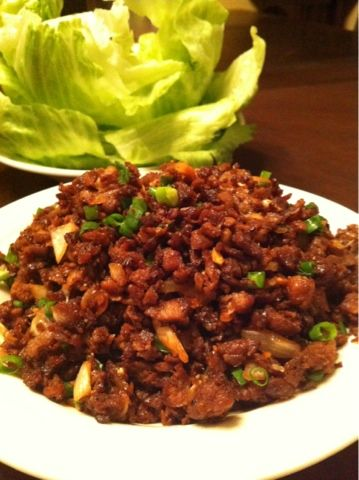 Asian Lettuce Wraps - add grated zucchini(squeeze out excess water) and thinly julienned carrots