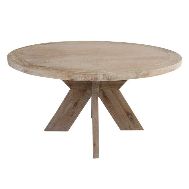 Lyon spisebord er et stort rundt bord i heltre. 150cm i diameter. www.krogh-design.no/shop/lyon-spisebord-150/