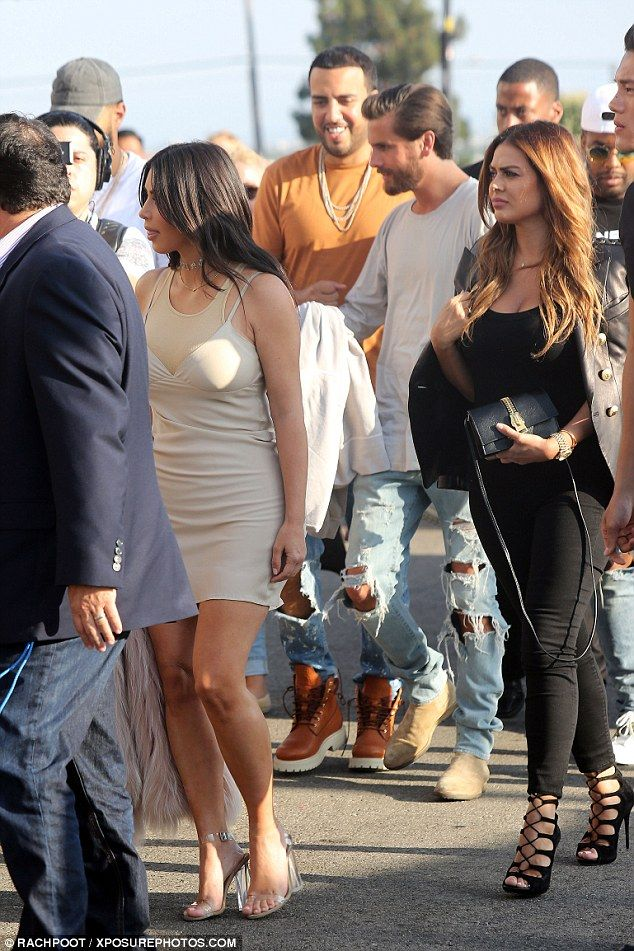Look who's here! The mother-of-two was joined by many of her famous family members, including her sister Kourtney's ex Scott Disick, who strolled alongside French Montana