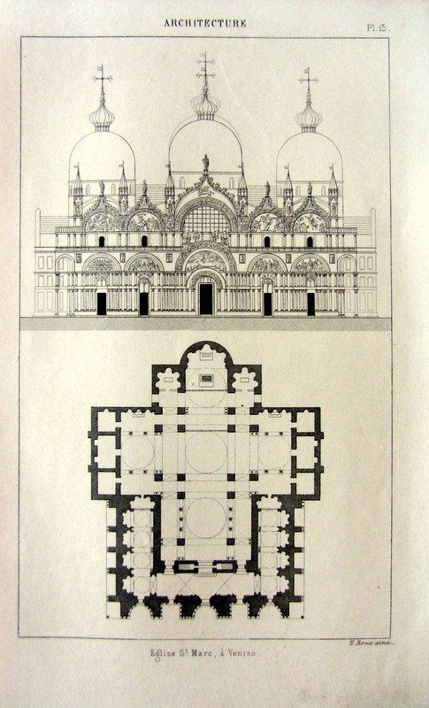 1852 antique architecture printCathedral by LyraNebulaPrints, $23.95