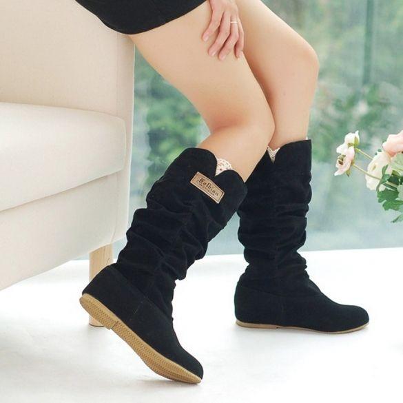 Mujeres Moda Otoño Invierno Botas Encaje Manguito mayor la zona de moda y el mejor precio de la ropa interior Shoes_Boots_Shoes_Women