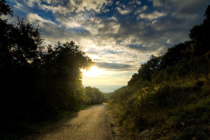 Passeggiata dominicale alla scoperta della Sabina, al tramonto mi si apre davanti questo paesaggio, bhe non potevo che scattare  #fotografia #landscape