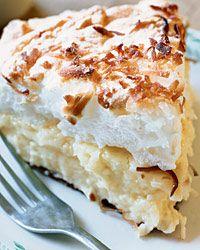 Coconut-Custard Meringue Pie Recipe  from Food & Wine