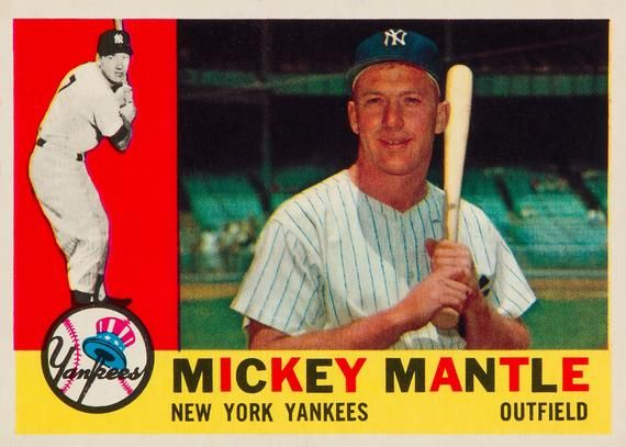 1960 Mickey Mantle Topps 350 Vintage Baseball Poster Etsy In 2021 Mickey Mantle Old Baseball Cards Rare Baseball Cards