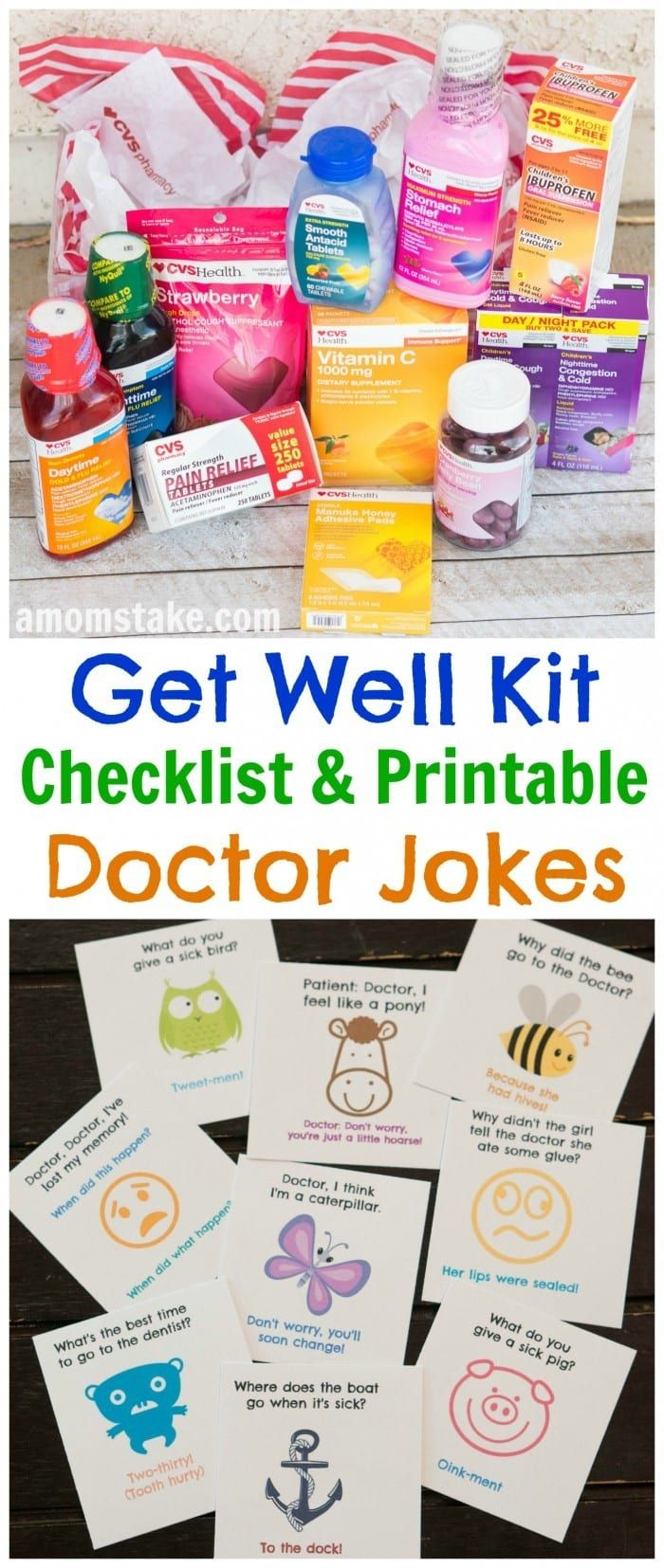 A well stocked medicine cabinet will have you prepared and ready for whatever comes your way through fall and cold and flu season. This list covers all the essentials to keep on hand. Plus, an adorable bonus set of kids doctor jokes to cheer up the family when a bug does hit. via @amomstake