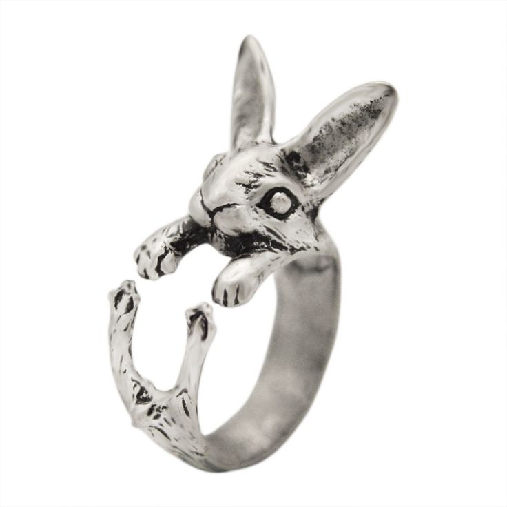 1pcs 3D Vintage Hippie Chic Vintage Handmade Rabbit Ring Bunny Animal Knuckles Vintage Adjustable Rings for Women Gift