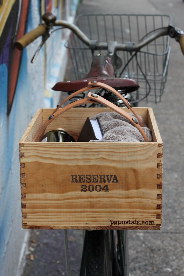 Wine Box Basket for Bicycle.