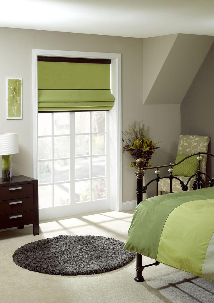 Apollo Calico Green Bedroom Blind