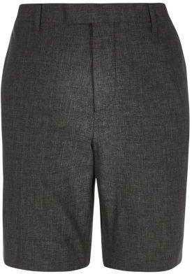 River Island Mens Black linen tailored shorts