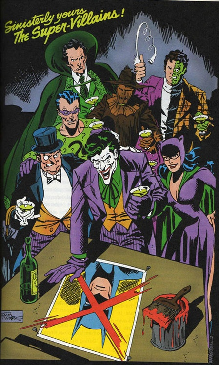 """""""Sinisterly yours the supervillains,"""" by Jim Aparo"""
