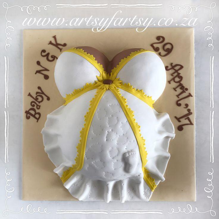 Preggie Belly Cake #preggiebellycake