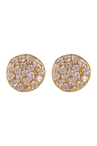 99d1ec591 Pave CZ Disc Stud Earrings Stud Earrings, Nordstrom Rack, Sterling Silver,  Plating,