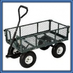 A trolley suitable for rough terrain