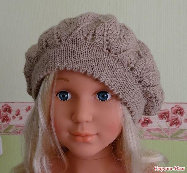 """Добрый день, рукодельницы!  У нас уже совсем тепло, уже не нужны теплые шапочки, а у меня еще не показаны последние работы. Выношу на ваш суд.  Шапочка """"Непал"""" от """"Дропс"""" для младшей невестки."""