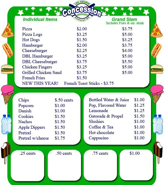 Quality Concession Stand Menu Template In 2021 Concession Stand Menu Concession Stand Food Concession Stand