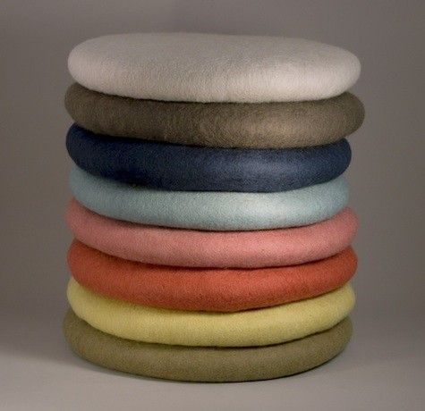 Felt Round Cushions: Remodelista