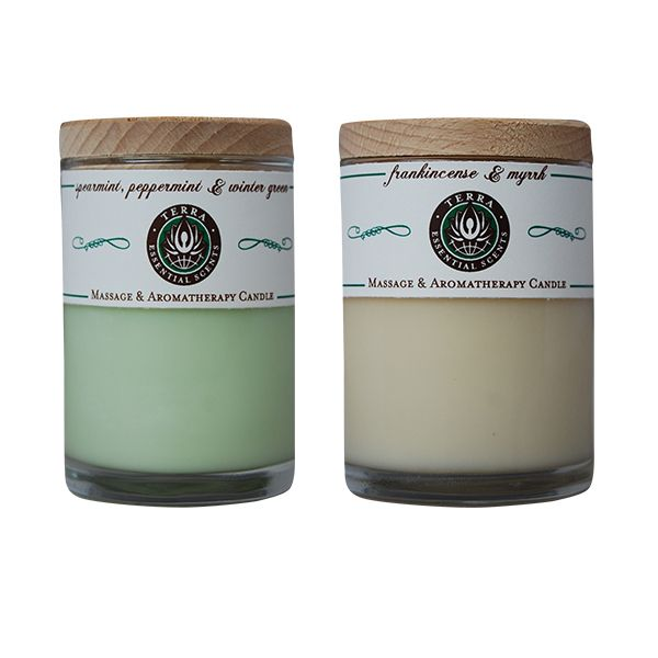 Terra Essential Scents Massage & Aromatherapy Candles | Organic Spa Magazine's 2013 Gift Guide: Eco-Beauty | #OrganicSpaMagazine