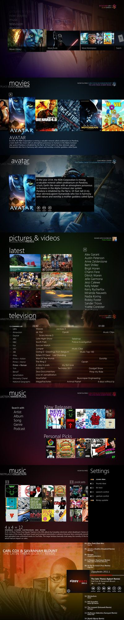 Zune Media Center v2.7 by ~Bonkietje on deviantART