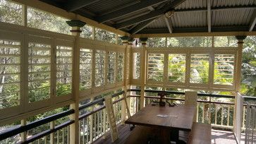Outdoor Living - Enclosed Deck, Patio or Porch traditional porch.  Shutters for Boxing in Side of Verandah
