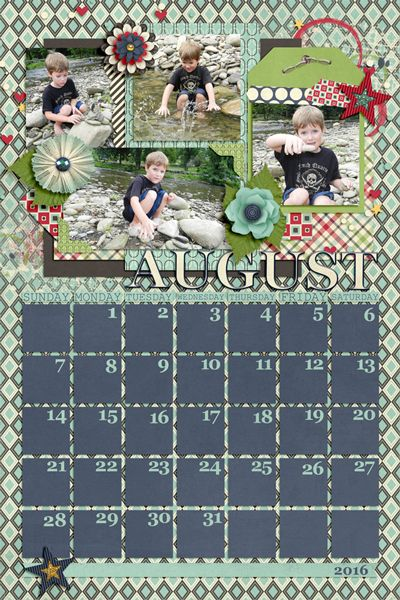 2016 Calendar Template 8 By Scrapping With Liz Http