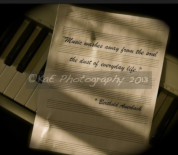 """""""Music washes away from the soul the dust of every day Life""""  Photo by KaEPhotography"""