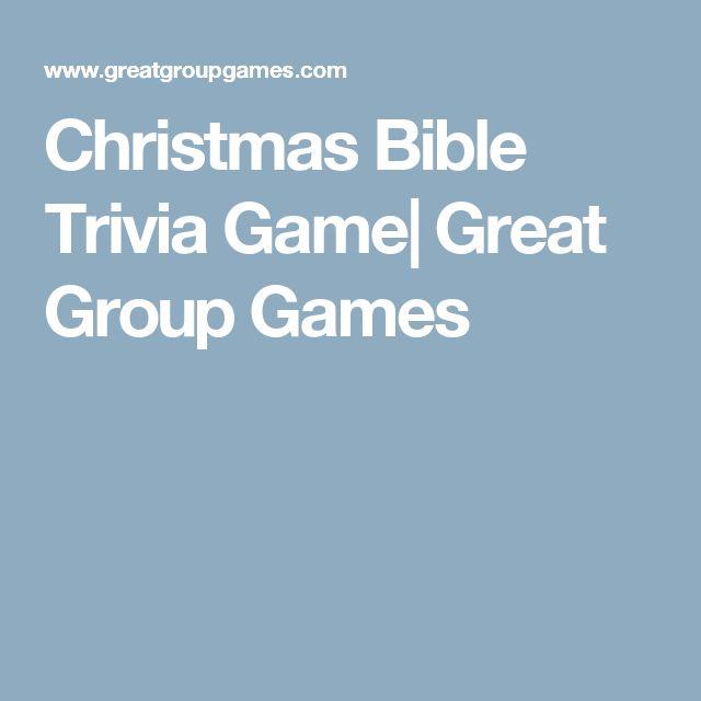 Christmas Bible Trivia Game| Great Group Games